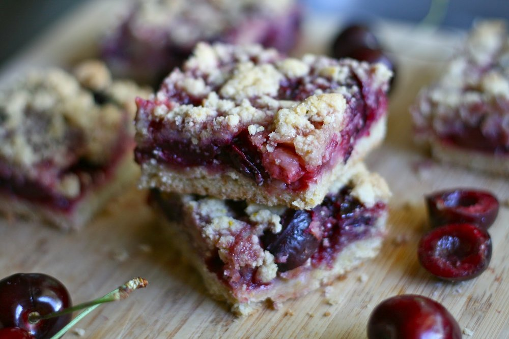 Cherry Crumb Bars  -