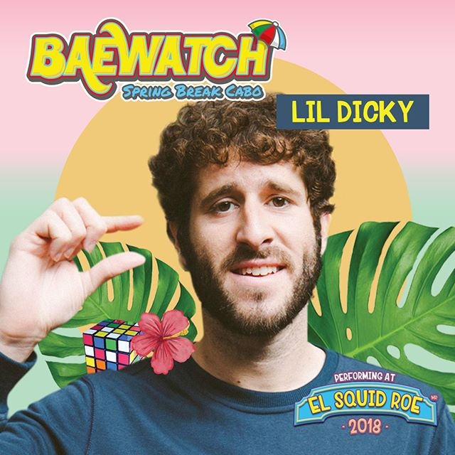 Remeber, Lil Dicky  will be presented in concert today 'El Squid Roe' 🔥❤️😏 If you want to win 2 tickets to Baewatch click on the following link ---  http://bit.ly/2BtW9px