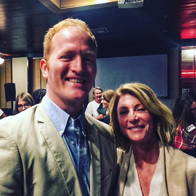 Thrilled to hear @wendydavistexas deliver her message of hope, defiance, & determination in tough times. Also very pleased to discover we color coordinated for tonight's @austinyoungdems event! #igaustin #croweforcongress #tx21