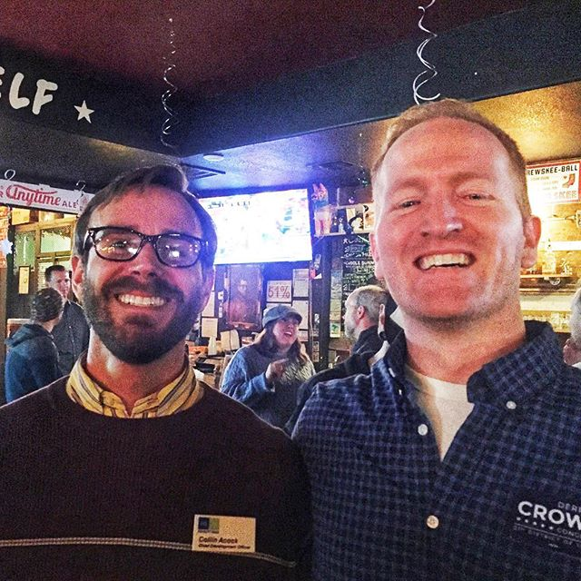 Proud to join @equalitytexas tonight for their happy hour! Thank you for fighting for the civil rights of LGBTQIA folks in Texas! #tx21 #croweforcongress