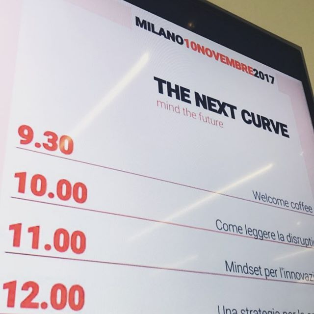 Workshop The Next Curve, in partenza ora!  #thedoers #thenextcurve #innovazione #innovation #milano #thedoersteam #mida