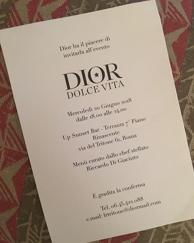 Che bello! Grazie @dior ci sarò... • • • #queenbeeloves#dior #larinascente #rome#ladolcevitaly #ladolcevita