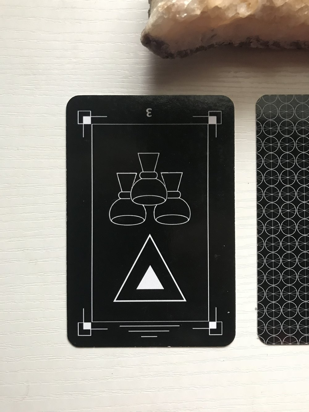 Card 1 - Three of Cups (reversed)