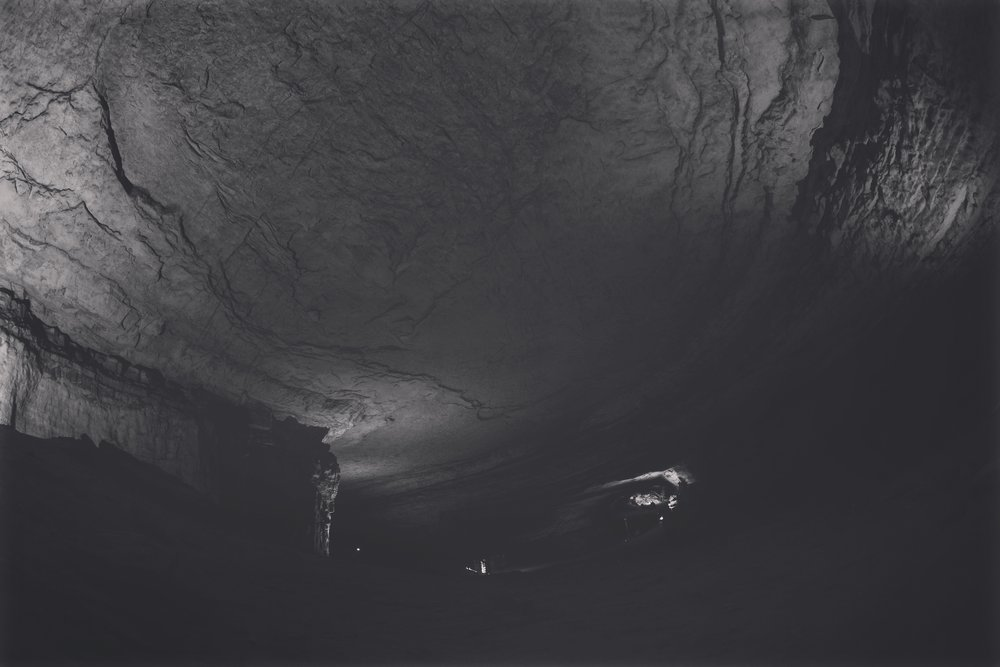 Inside Mammoth Cave.