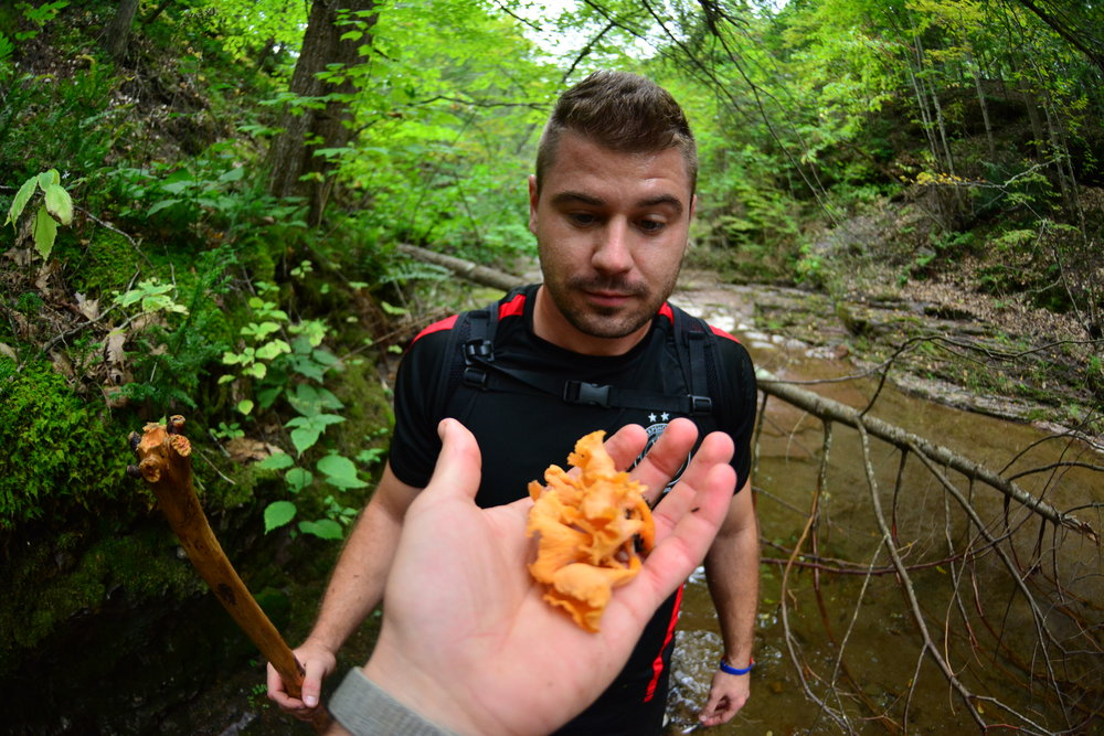 Me and my buddy Justin finding those chanterelles.