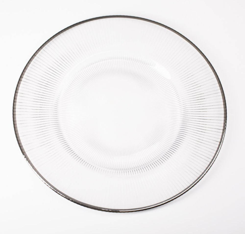 Richland 13%22 silver rim glass charger plate.png