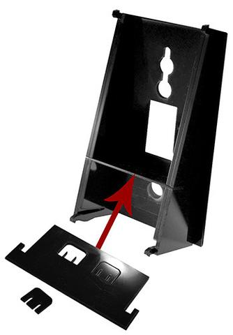 We include two handset clips with each stand.