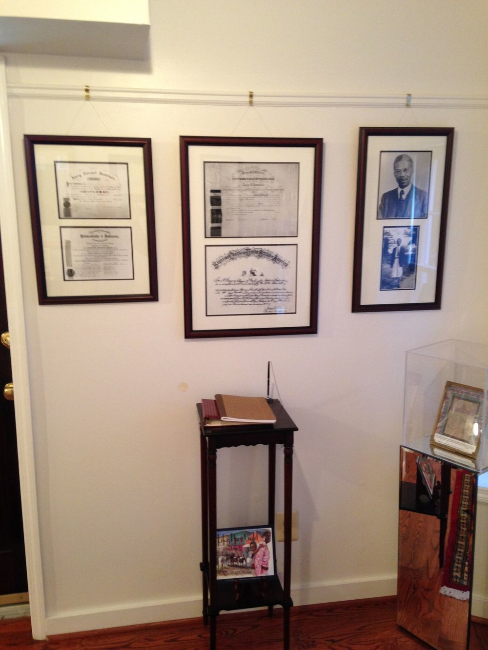 Louis Gregory's diplomas.