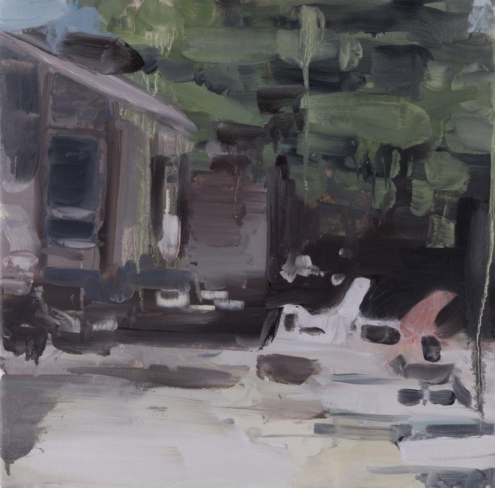 Pool House - Elvis Presley / 2013 / Oil on canvas / 40cm x 40cm