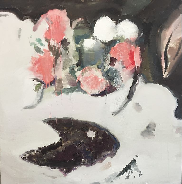 Interior (plant), 107×107 cm, 2016, oil on linen.
