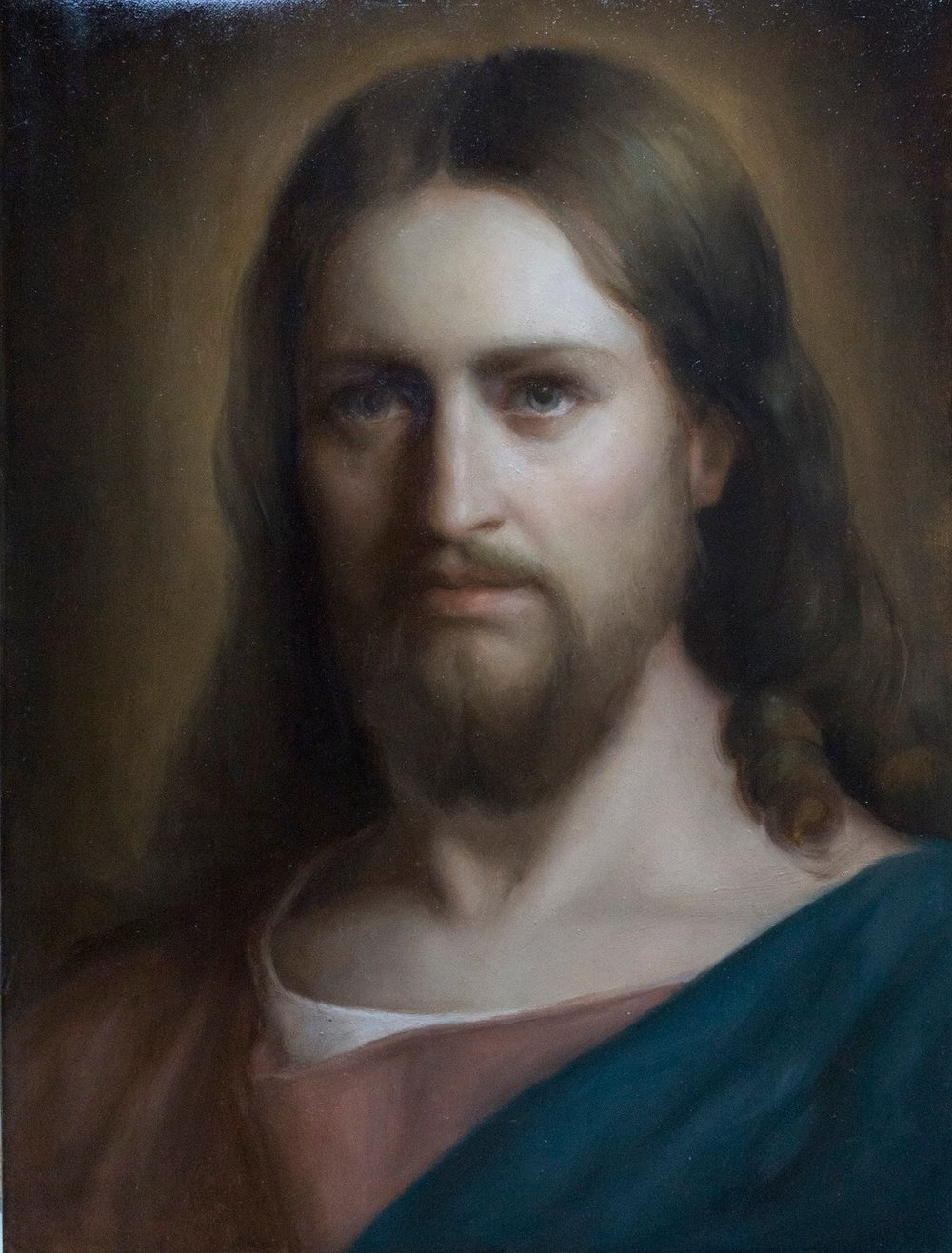 Portrait of Christ (2016) after Carl Bloch by Niki Covington. Oil on Linen. 12 x 18 in.
