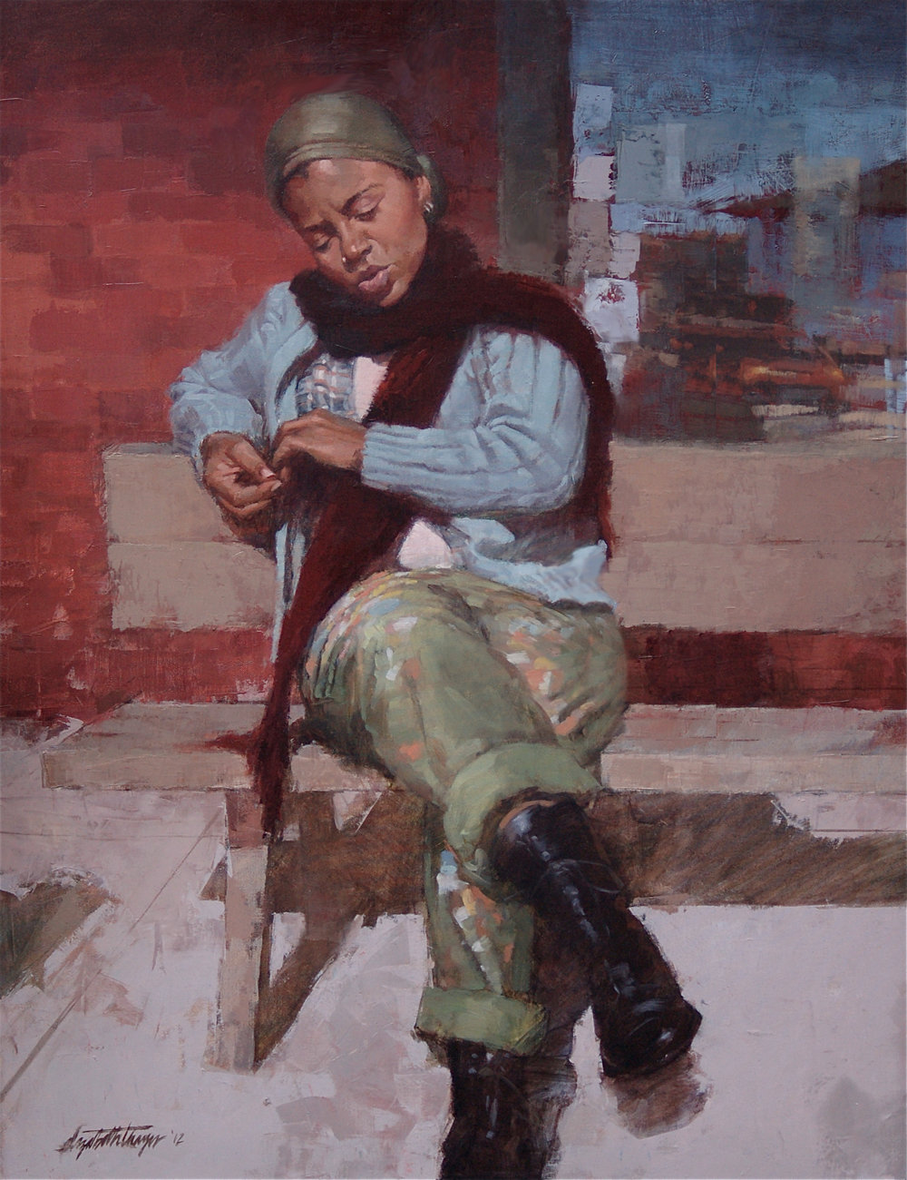Marcia (2013) by Elizabeth Thayer. 24 x 31 in. Oil on Linen.