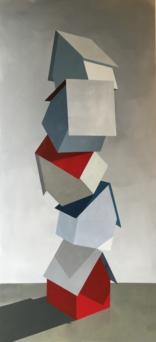 Justin Wheatley (b. 1980) Firm Foundation, 2015, Acrylic on Panel