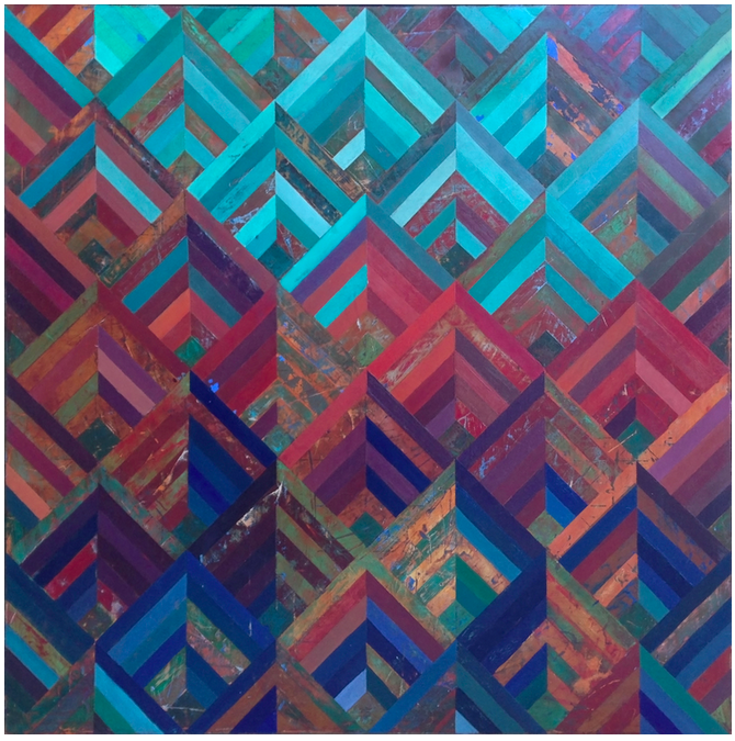 Paige Crosland Anderson. Not Cast Off (2014) Oil on panel. 36 x 36 in.