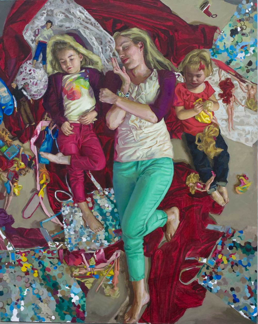 Mary Sauer (b. 1986) Release (2015) Oil on canvas. 90 x 60 in.