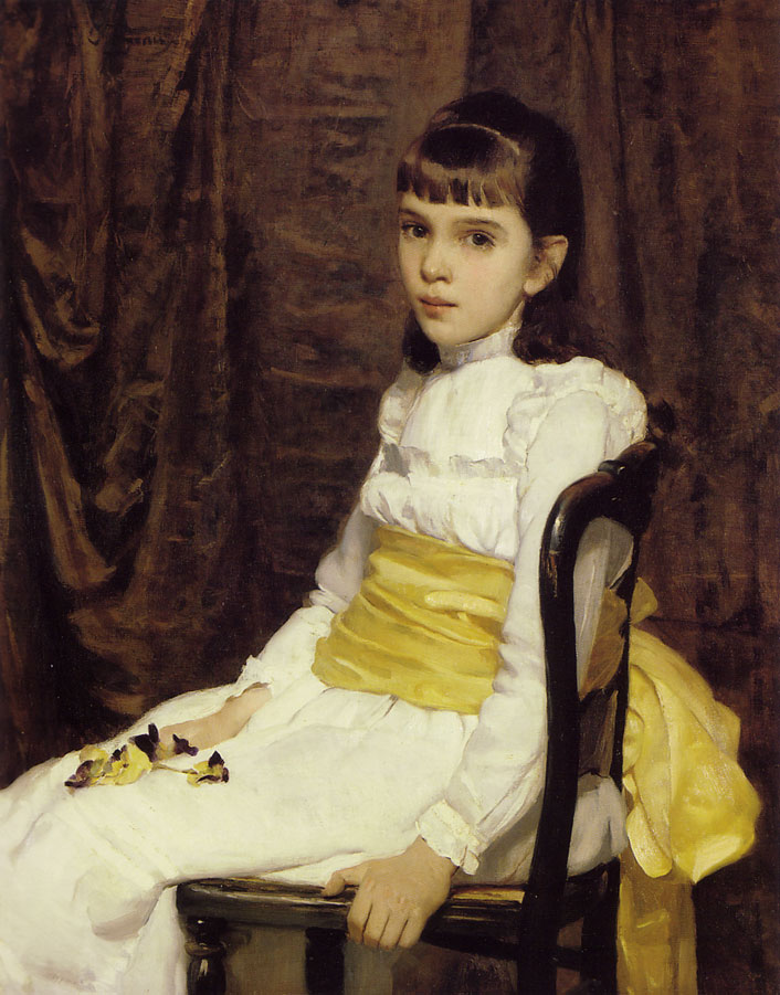 Cecilia Beaux (American, 1855-1942) The Little Girl (1887) Oil on canvas, 36 x 29 in. Pennsylvania Academy of Fine Arts, Philadelphia.