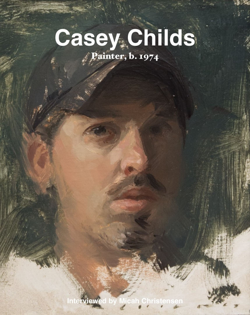 Casey Childs (b. 1974)  Self Portrait  (2014) Oil.