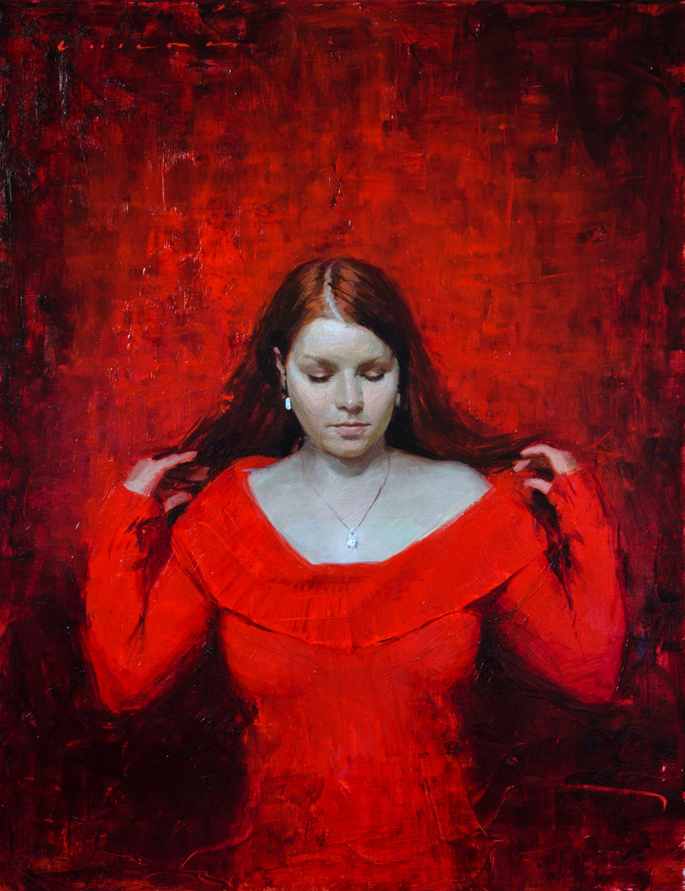 Casey Childs (b. 1974)  Sanguine  (2015) Oil on linen. 18 x 14 in.