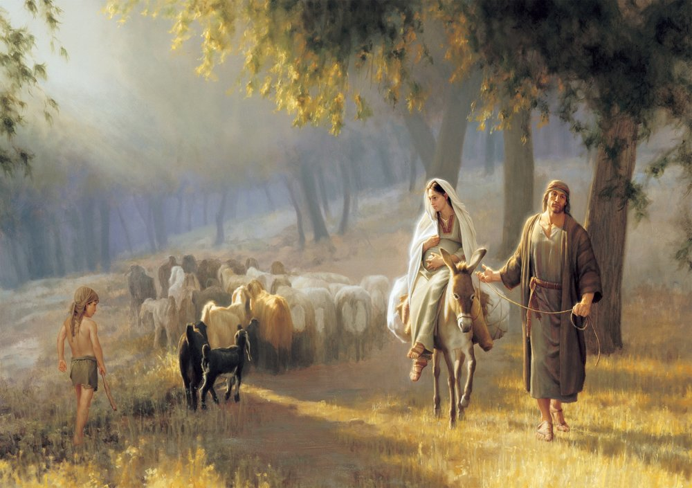 Joseph Brickey. Journey to Bethlehem (2000) Oil on canvas. 40 x 60 in. Private collection, Salt Lake City.