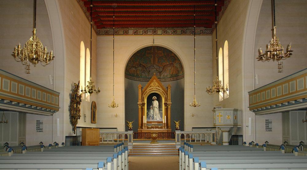 Interior of the  Skt. Nikolai Kirke  Holbaek, Denmark.