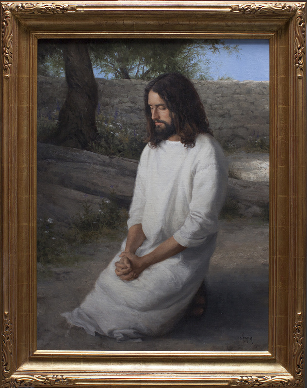 The Lord's Prayer  by Ryan Brown. Oil on Panel. 32 x 24 in.