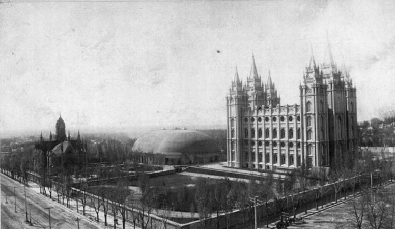 Temple Square circa 1890. Photograph courtesy of Utah State Historical Society.