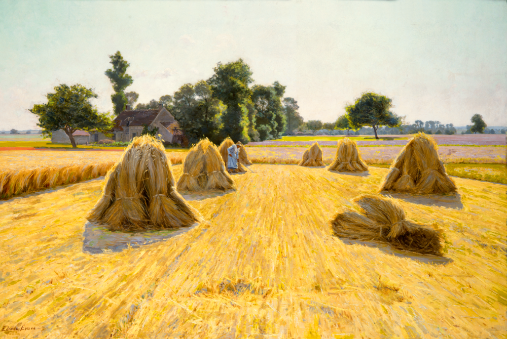 Grain Fields  (1890) by Edwin Evans. Oil on Canvas. Brigham Young University.