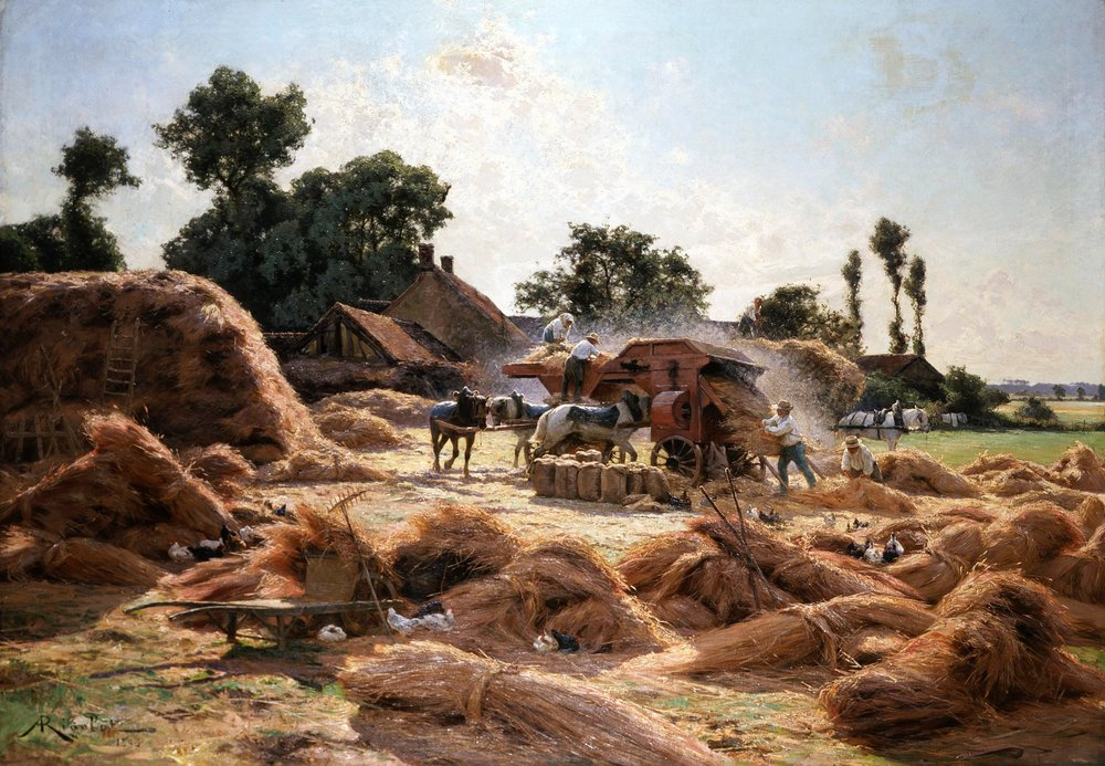 The Threshing Machine (1893) by Albert Rigolot (French, 1862-1932). Musée des Beaux-Arts de Rouen