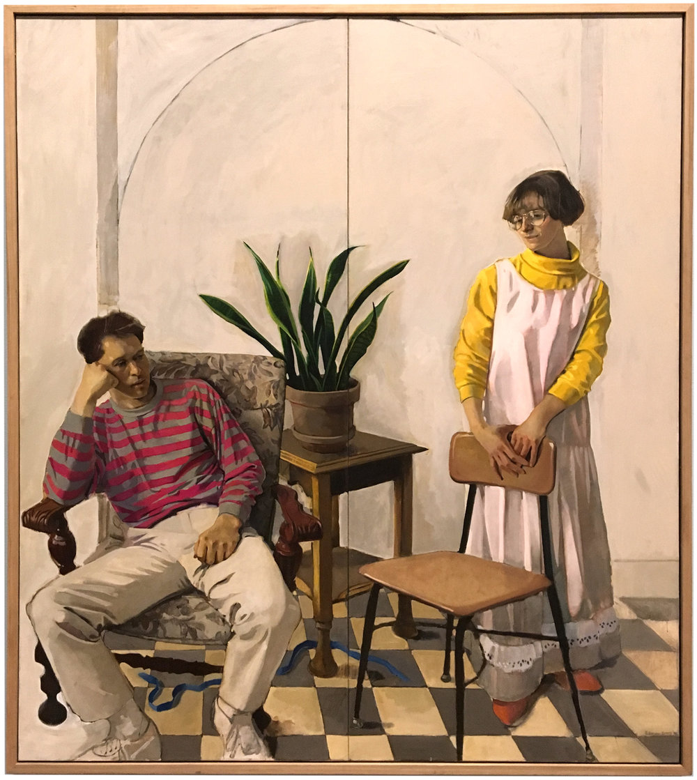 Jacob & Leah  by Bruce Hixson Smith. On View at BYU Museum of Art. Courtesy of the Artist.