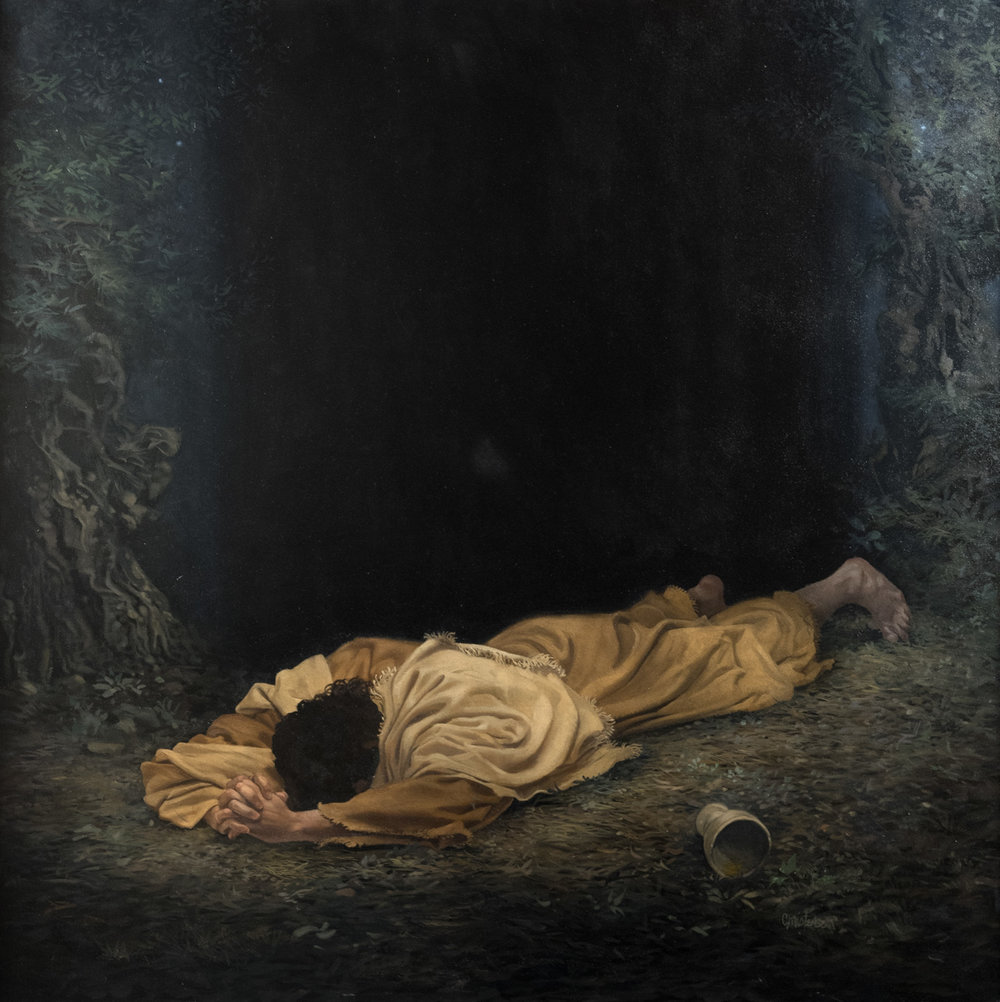 Atonement  by James C. Christensen. Oil on Canvas. 48 x 48 in. Collection of the artist's wife.