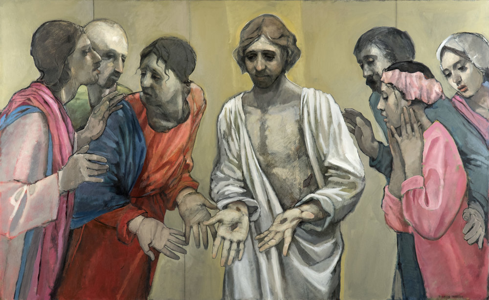 The Reconciliation of Thomas  by Bruce Hixson Smith. Oil on Linen. 53 x 32 ½ in. Collection of Mr. Jeff Robert.