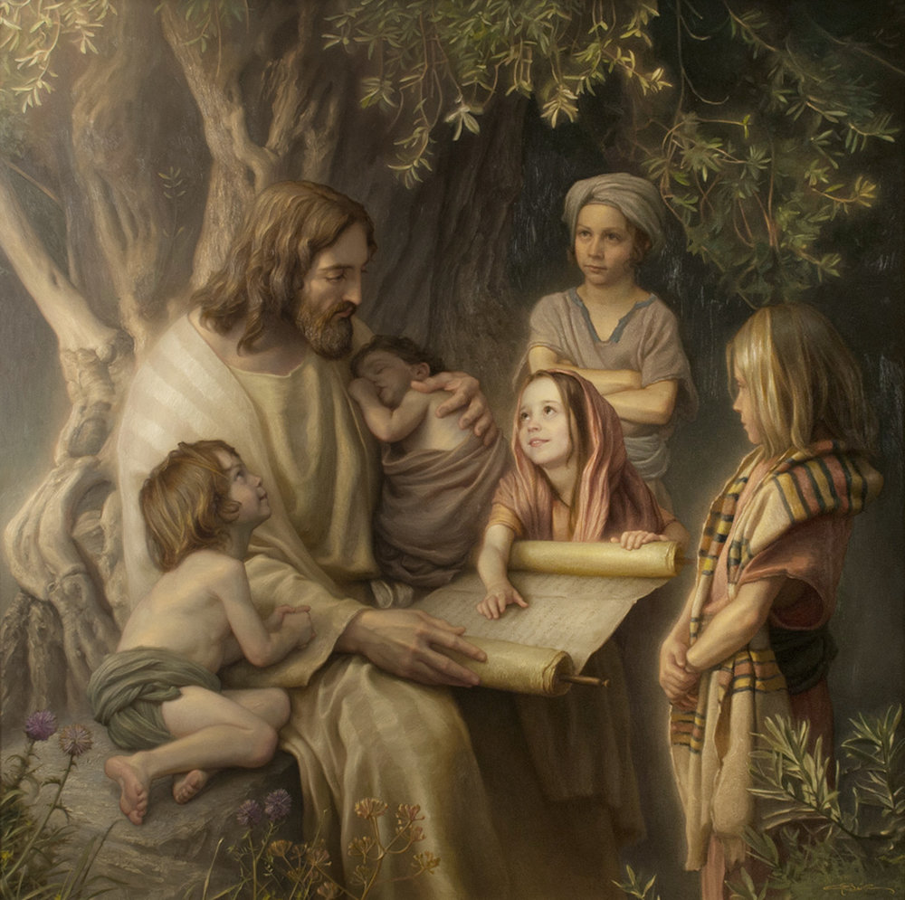 Children of Light  by Joseph Brickey. Oil on Canvas. 60 x 60 in.