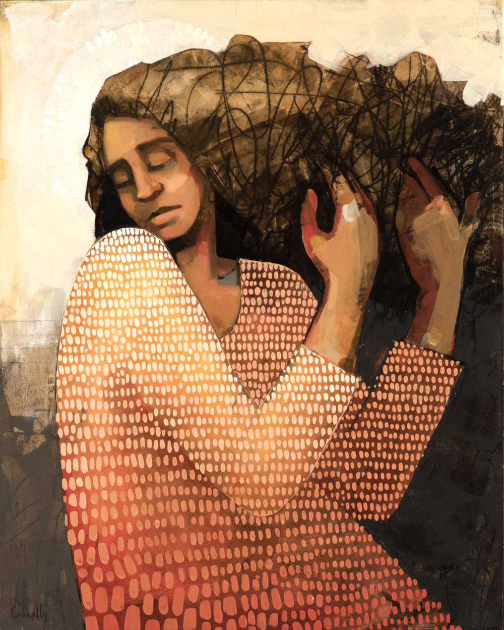 Detangling My Mind by Caitlin Connolly, 30 x 24 in., Oil on Panel.