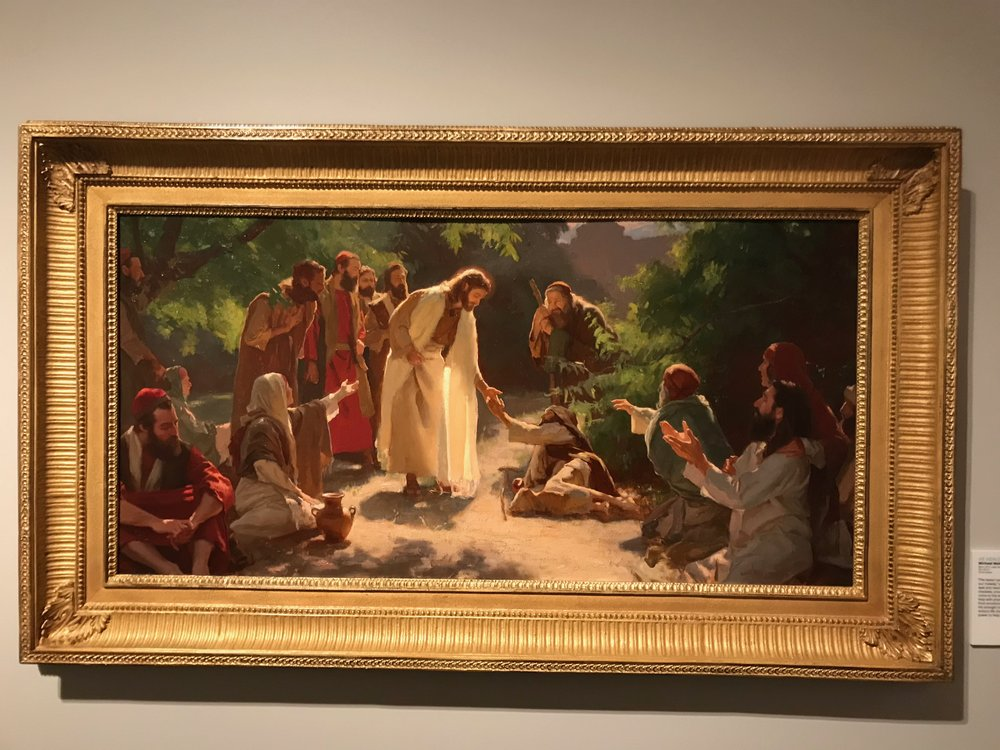 He Healed them All  by Michael Malm. Oil on board.