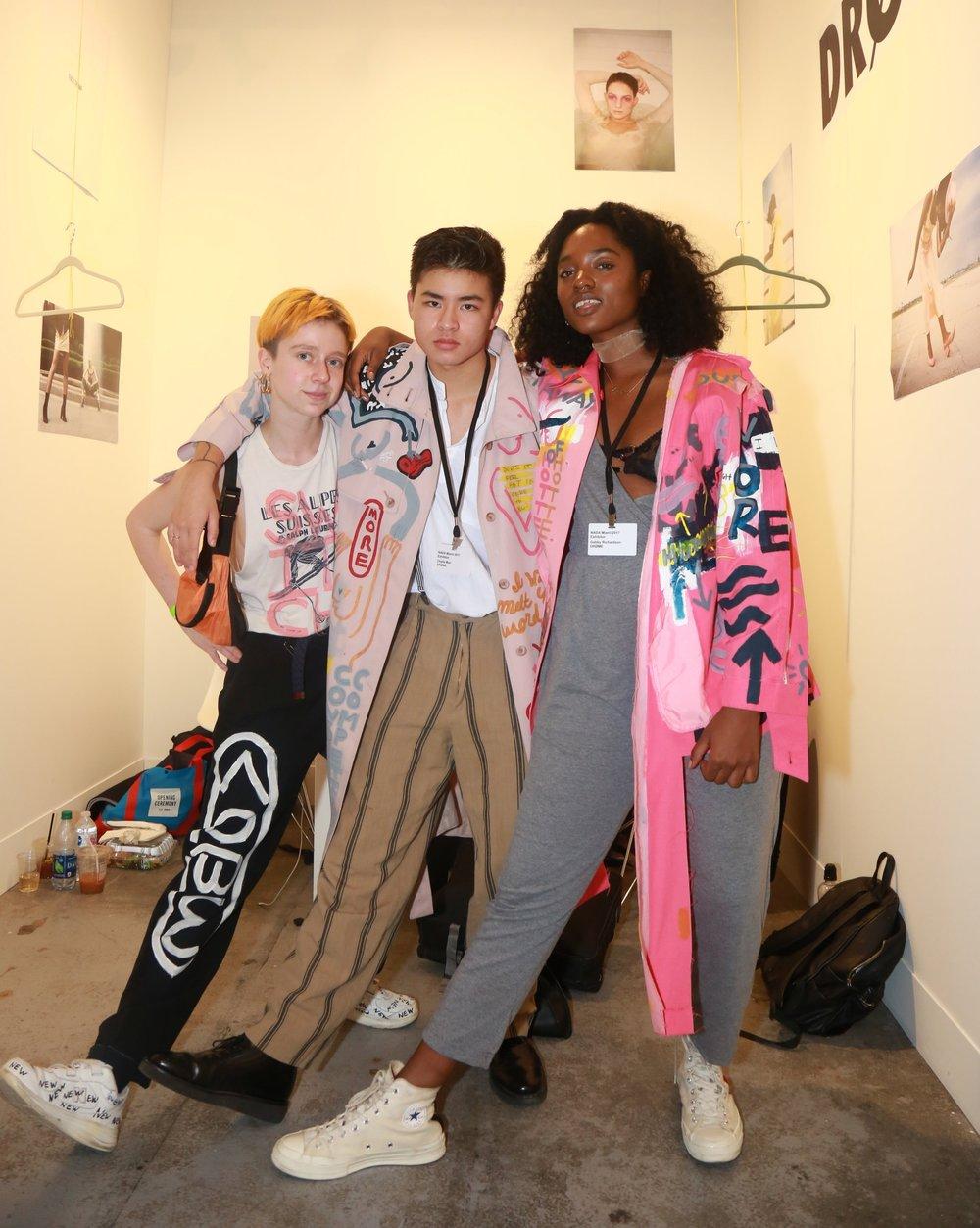 MI Leggett with Chella Man &Gabby Richardson at DRØME booth