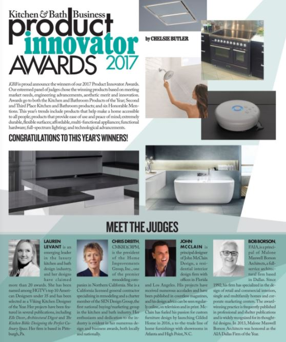 John McClain chosen to judge KBB Magazine Product Innovator Awards