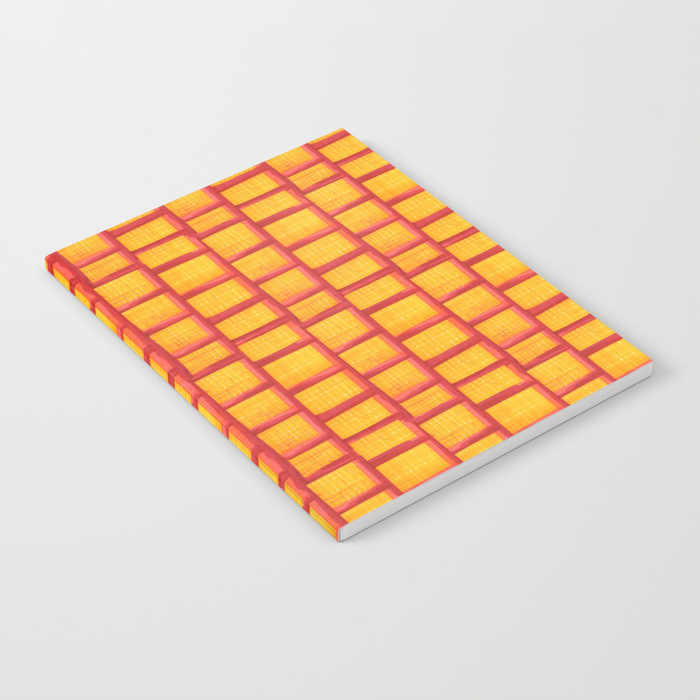 Red Grid Notebook