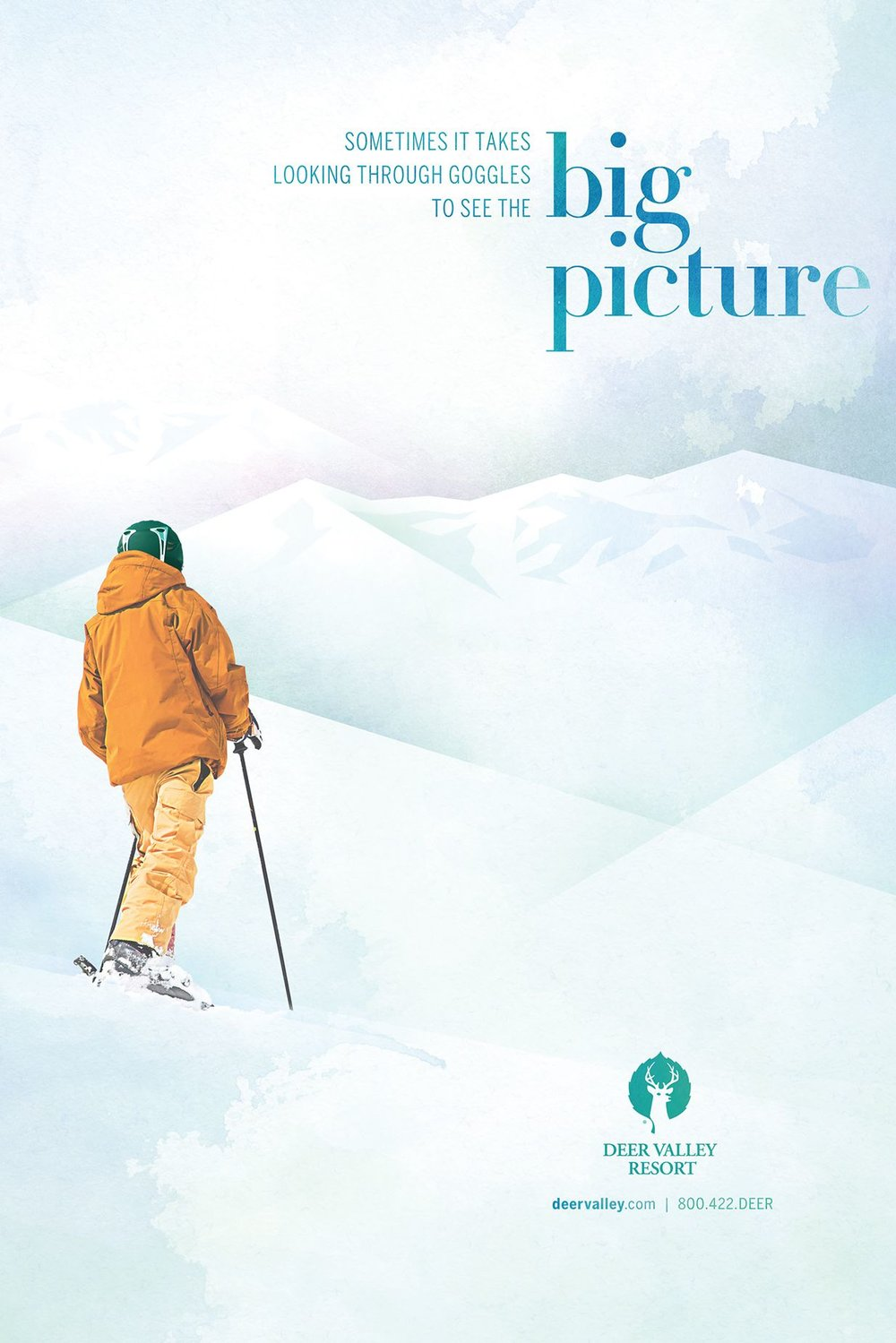 Deer Valley Big Picture Advertisement with skier