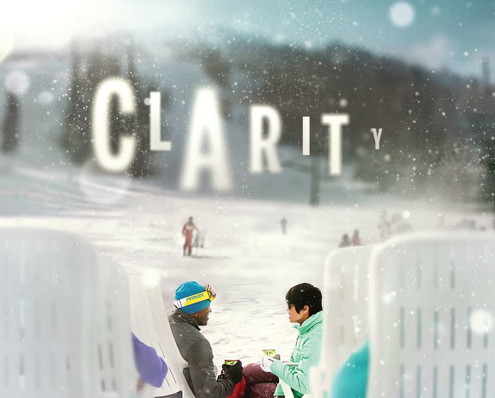 Clarity photo for Deer Valley as seen through ski goggles.