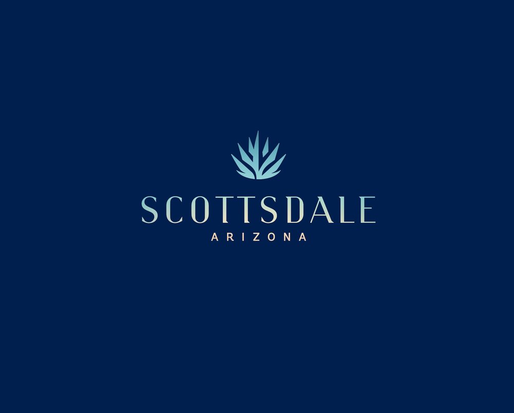 Scottsdale Logo - blue background