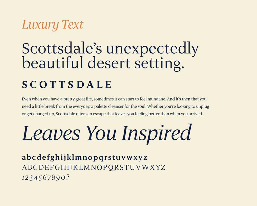 Examples of Luxury Text