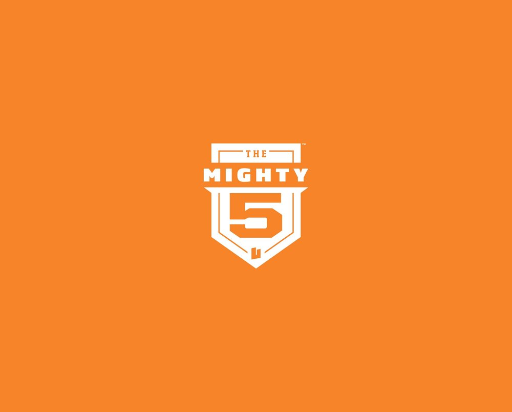The Mighty 5 branding and logo by Struck