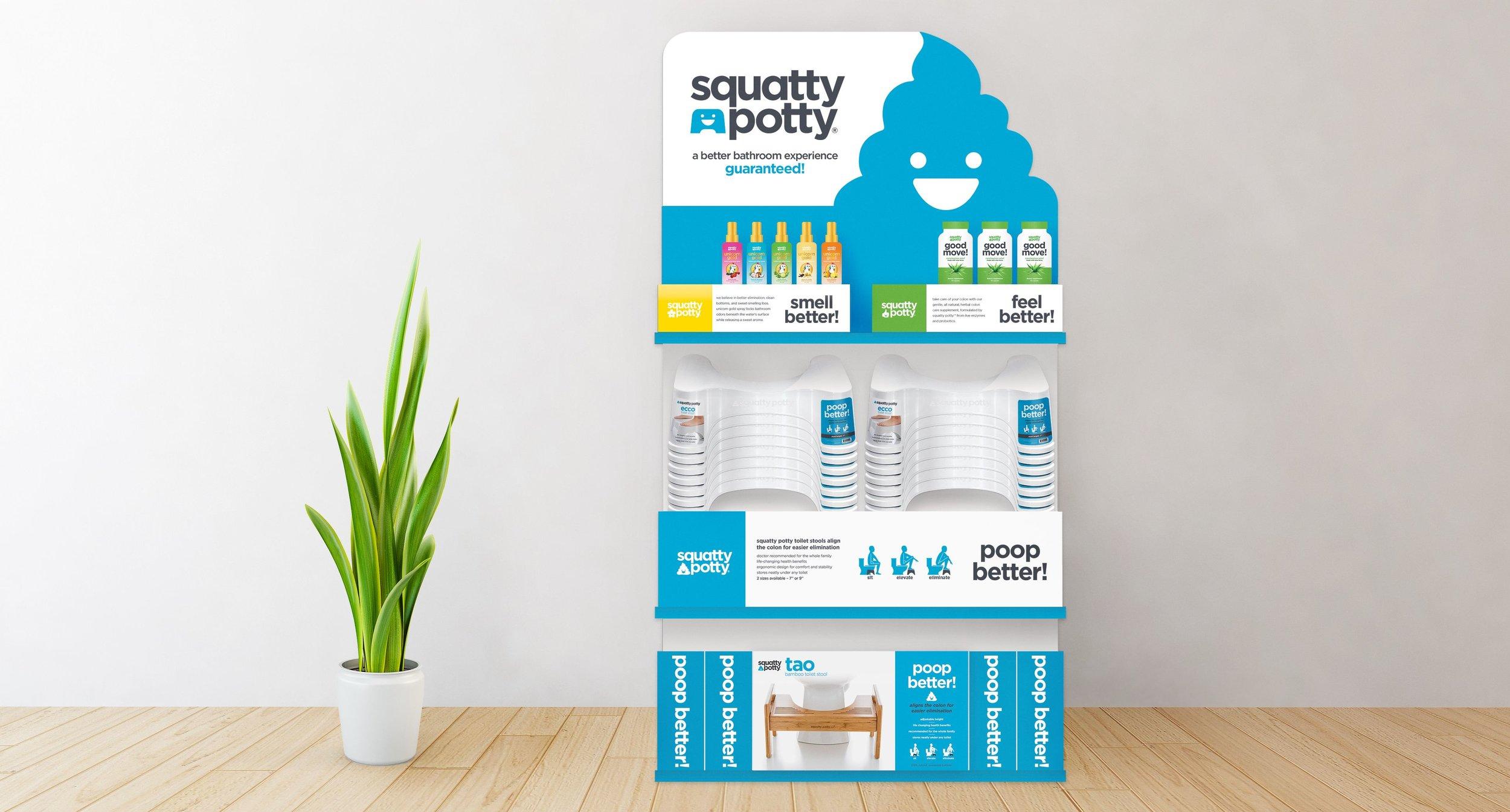 bf27ffa15ea Squatty Potty Stool and Spray Display