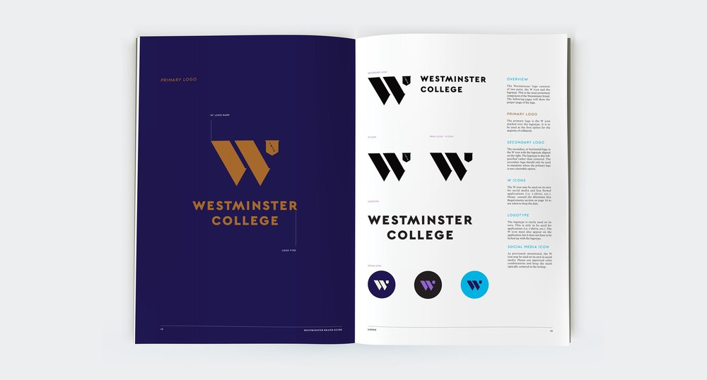 Logo Page from the Westminster Brand Guide