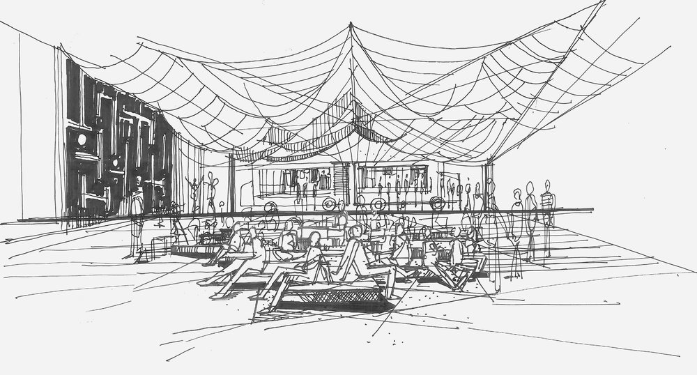 Initial Sketch McDonald's Lounge
