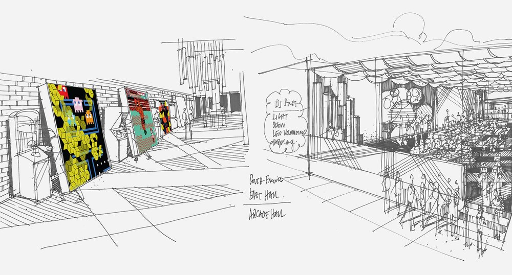 Initial Sketch for Outside Venue
