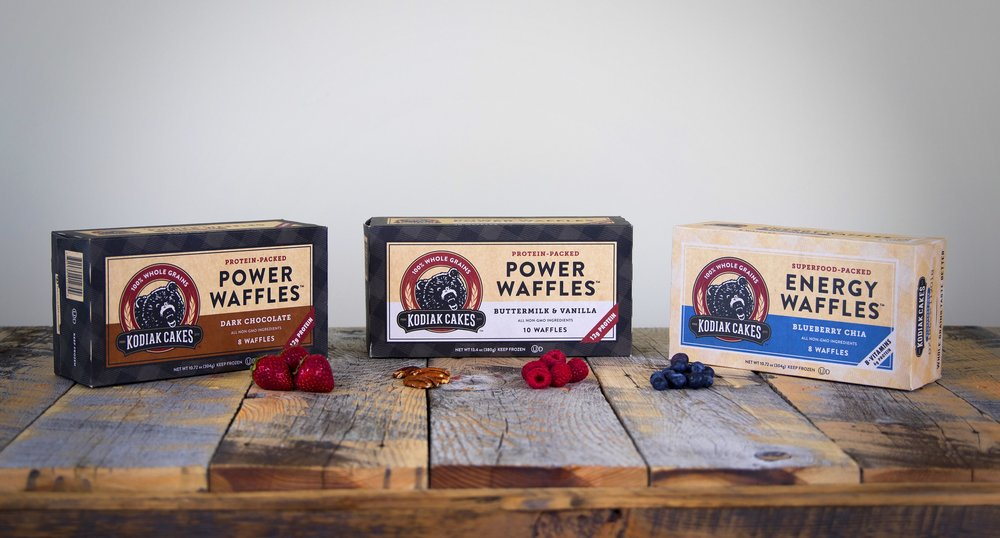 Power and Energy Waffles Packaging