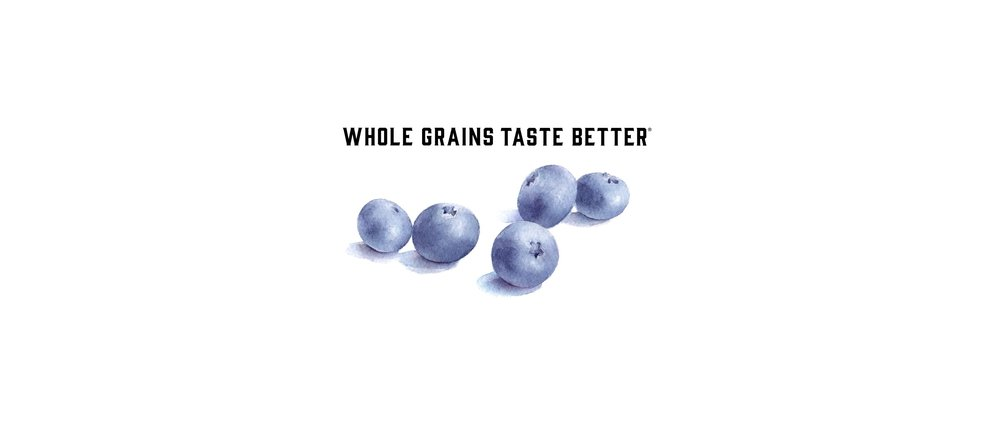 Blueberries and 'Whole Grains Taste Better' Advertisement