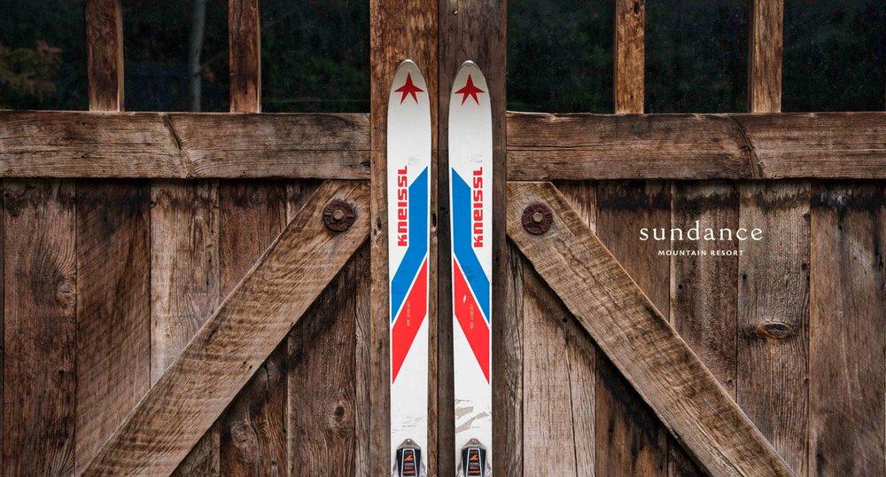 Sundance Skis and Barn Door Advertisement