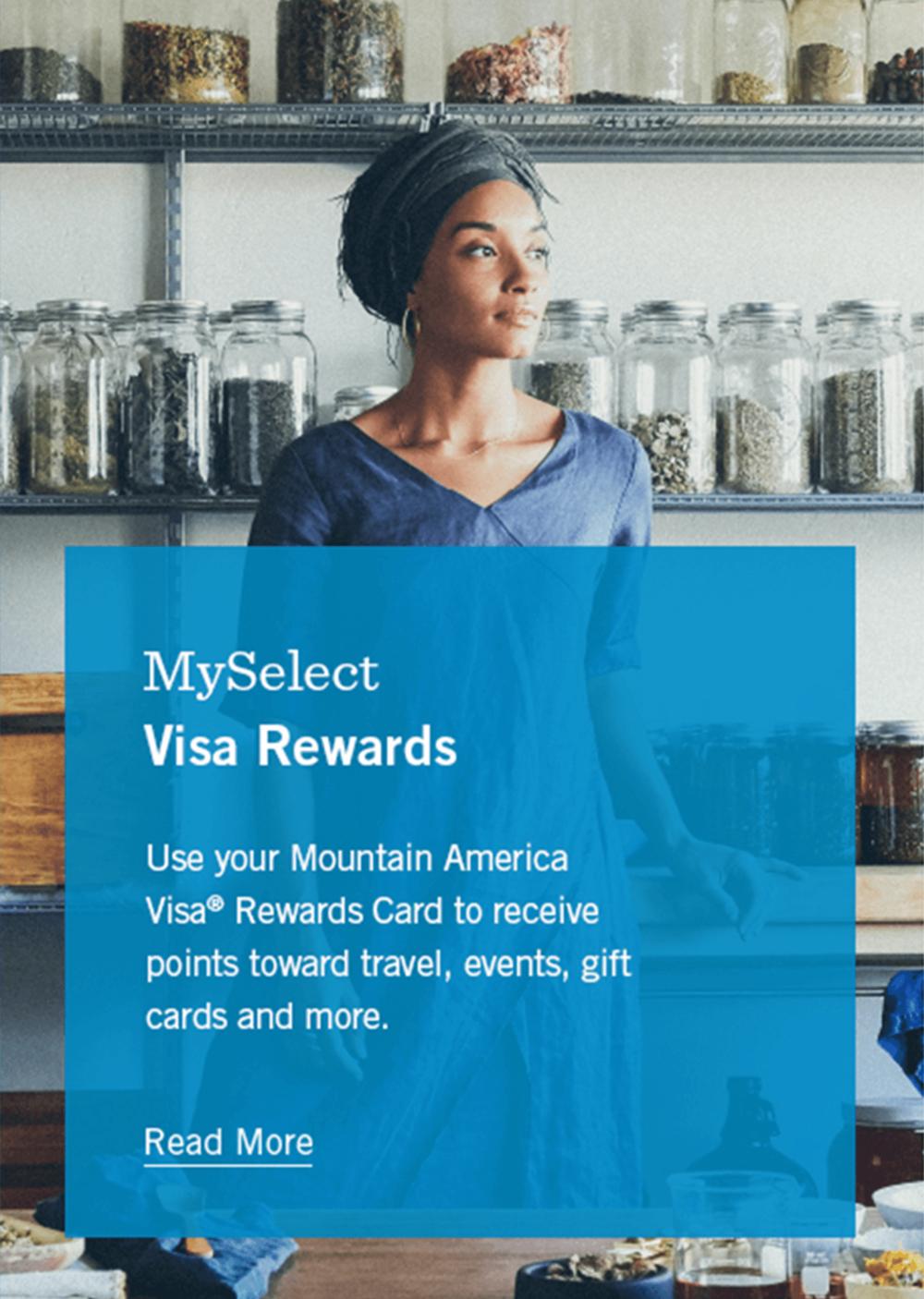 MySelect Visa Rewards Advertisement